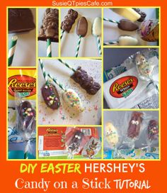 Easter Sweets on a Stick - DIY Easter Treats for the Kids and Adults! We love food crafts! #bunnytrail #spon