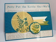 www.stampenvy.ca, stampin up, just believe, tea for two