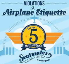 Airplane travel etiquette from Expedia