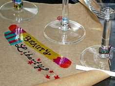Shrinky Dink Test Lab, Special Edition - Temporary party glass markers