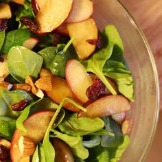 Warm Spinach & Apple Salad