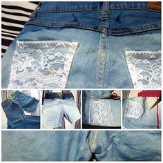DIY short+lace