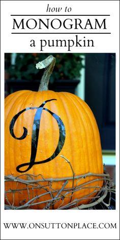 Monogrammed pumpkins!