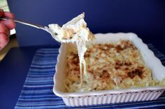Creamy Chicken Alfredo Pasta Bake - Takes 30 minutes to make.  Wheeee!