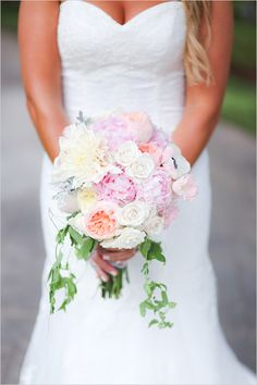 soft and romantic wedding bouquet
