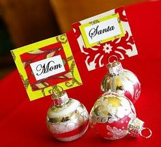 Cute name holder for Christmas