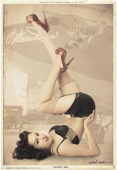 PIN-UP * GIRL FEBRUARY, 2011 *  VICTORY GIRL, JACLENE SOLIS