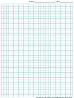Graph Paper Full Page Grid Lattice Multiplication