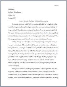 mla style sample essay
