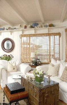 Vintage Touches for a Cottage Sitting Area