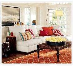 Great colors!  Love the whole cheerful room.