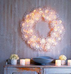 White on white wreath