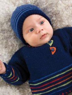 Baby Sweater pattern free via us.schachenmayr.com