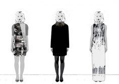 Fashion Sketchbook - fashion design lineup drawings; fashion illustrations; fashion portfolio // Faye Tinmouth
