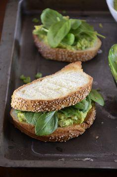 Chickpea and avocado salad sandwich