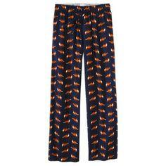 Fox print flannel pajamas