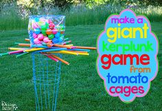 Outdoor Activities For Kids This Summer - this giant kerplunk game looks easier to build than others I've seen!