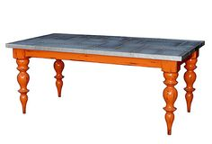 tin top table