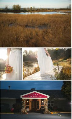 Seaside wedding. One Blue Fish Photography.