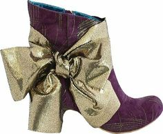 you won't have to find this bow! spectacular Irregular Choice Power Struggle Ladies Bow Ankle Boot, Purple, 9.5 M US Women: Shoes