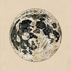 This eighteenth-century engraving of the Moon was published by John Keill an important disciple Isaac Newton in his book Introductio ad Veram Astronomiam in 1725. In the publication are their theories about the origin of the universe.