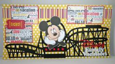Obsessed with Scrapbooking: Cricut Disney Roller Coaster Layout