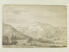 Matlock High Tor, John Constable, 1801