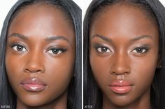 How Women Transform With Makeup. Eyes