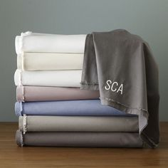 Frayed-edge sheets, remind me of my favorite old comfy sweatshirt #organic #cotton #green