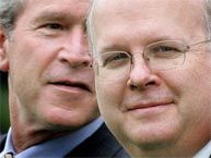 """Karl Rove,,,or as """"W-ya"""" calls him """"Turd Blossom""""..? He is the worst enemy America ever had!"""