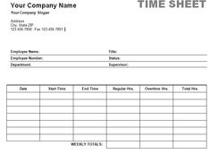 Free Printable Timesheet Templates | Free Weekly Employee Time ...
