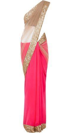 Manish Malhotra- my wedding sari designer! Love this but needs a different blouse