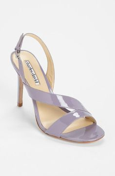 Beautiful lavendar bridal shoe.