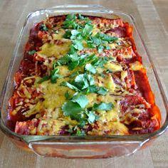 Slow Cooker Shredded Beef Enchilada