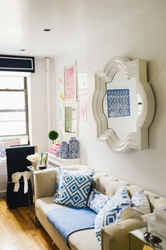 Glitter Guide At Home: Mackenzie Horan Of Design Darling 300 square foot apartment, NYC apartment, studio apartment, NY apt.