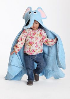 Can see my little one loving this...  Elephants fly hooded towel from Ruche.com