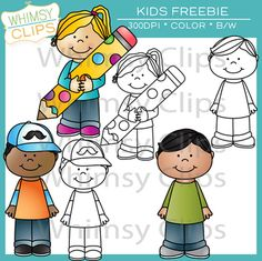 Kids clip art freebie from Whimsy Clips.
