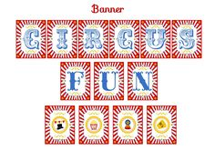 Free circus party banner #free #circus #carnival #banner #printable
