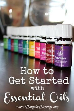 Get Started with Essential Oils: How to Use Them and Where to Buy Them http://www.bargainblessings.com/get-started-with-essential-oils-how-to-use-them-and-where-to-buy-them/