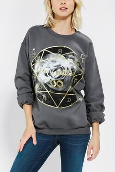 Cosmic and cozy pullover sweatshirt. #urbanoutfitters