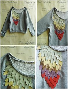 DIY sweater embellishment. Doing it!