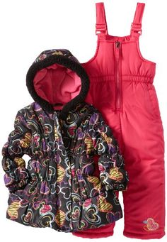 Pink Platinum Girls 2-6X Heart Printed Snowsuit Set - Listing price: $110.00 Now: $25.00