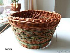 papierowa wiklina koszyki