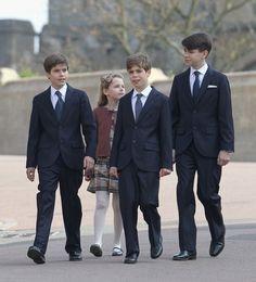Princess Margaret's four grandchildren: Arthur Chatto, Margarita Armstrong-Jones, Charles Armstrong-Jones, and Samuel Chatto.