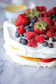Mixed Berry Pavlova (Gluten Free)