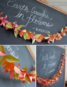 DIY paper flower garland-  prayer room