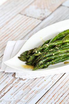 Roasted Asparagus Recipe with Dijon Vinaigrette Dressing   cookincanuck.com #asparagus #vegan #vegetarian by CookinCanuck, via Flickr