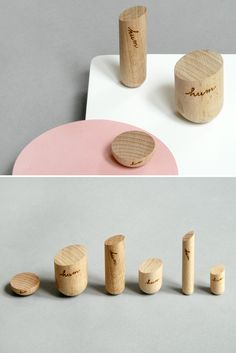 Pleasingly rounded wood  magnets.