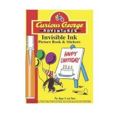 Curious George Adventures Invisible Ink Picture Book and Stickers [Happy Birthday]$9.99