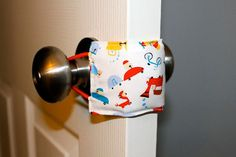 Door Jammer - To keep those doors from slamming when baby is sleeping. Great baby shower gift!!